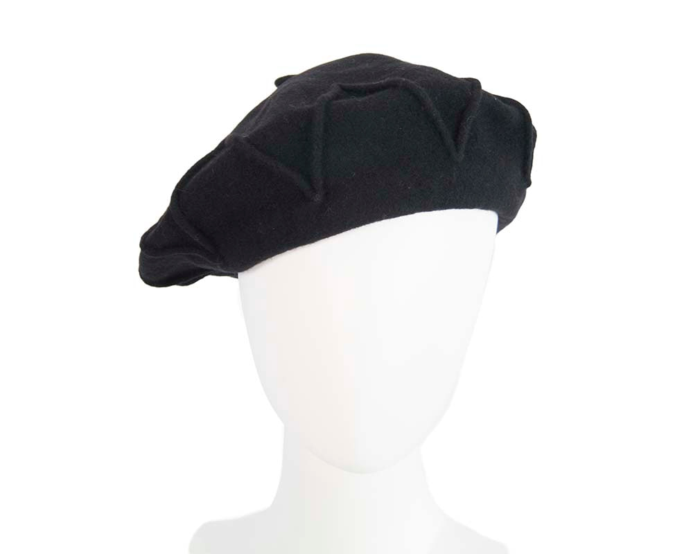 Designers black winter french beret by Max Alexander