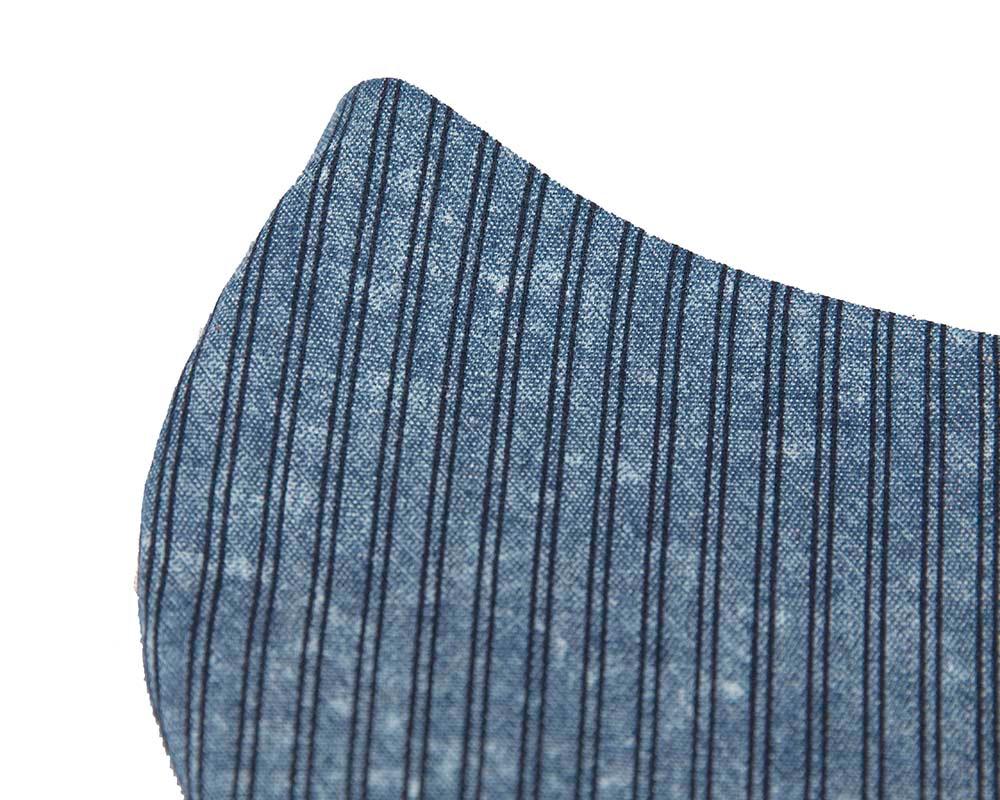 Comfortable re-usable cotton stripy denim face mask