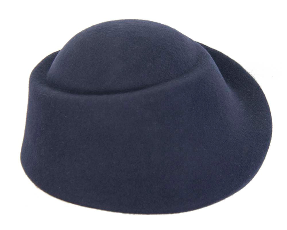 Unique navy ladies winter felt fashion hat