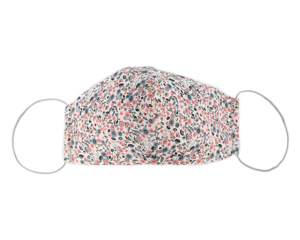 Comfortable re-usable cotton face mask small flowers