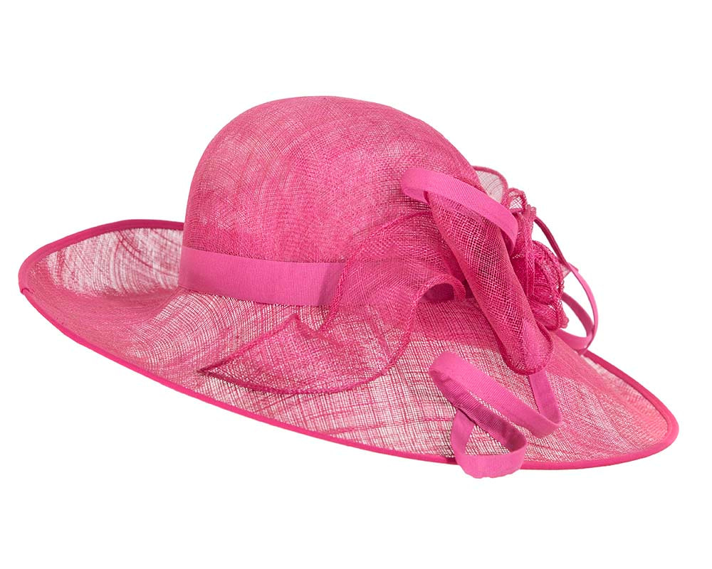 Fuchsia racing hat by Cupids Millinery Melbourne