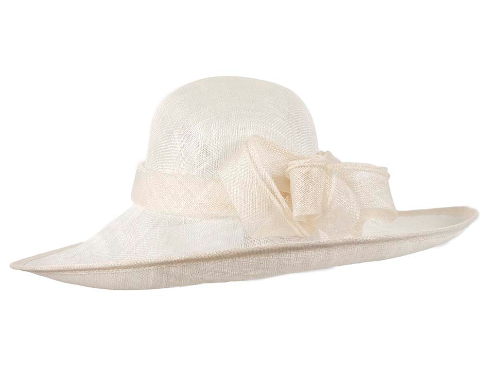 Large off-white racing hat by Max Alexander