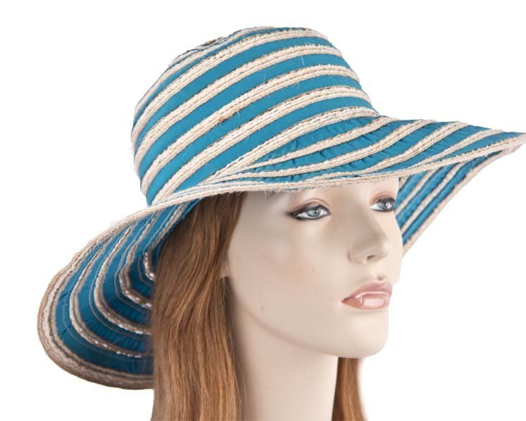 Wide brim summer beach sun hat SP374