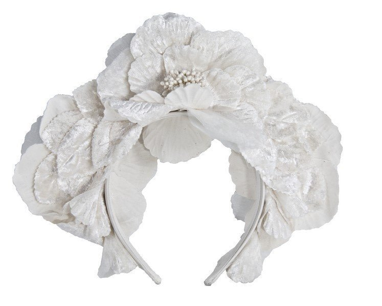 Cream flower halo fascinator
