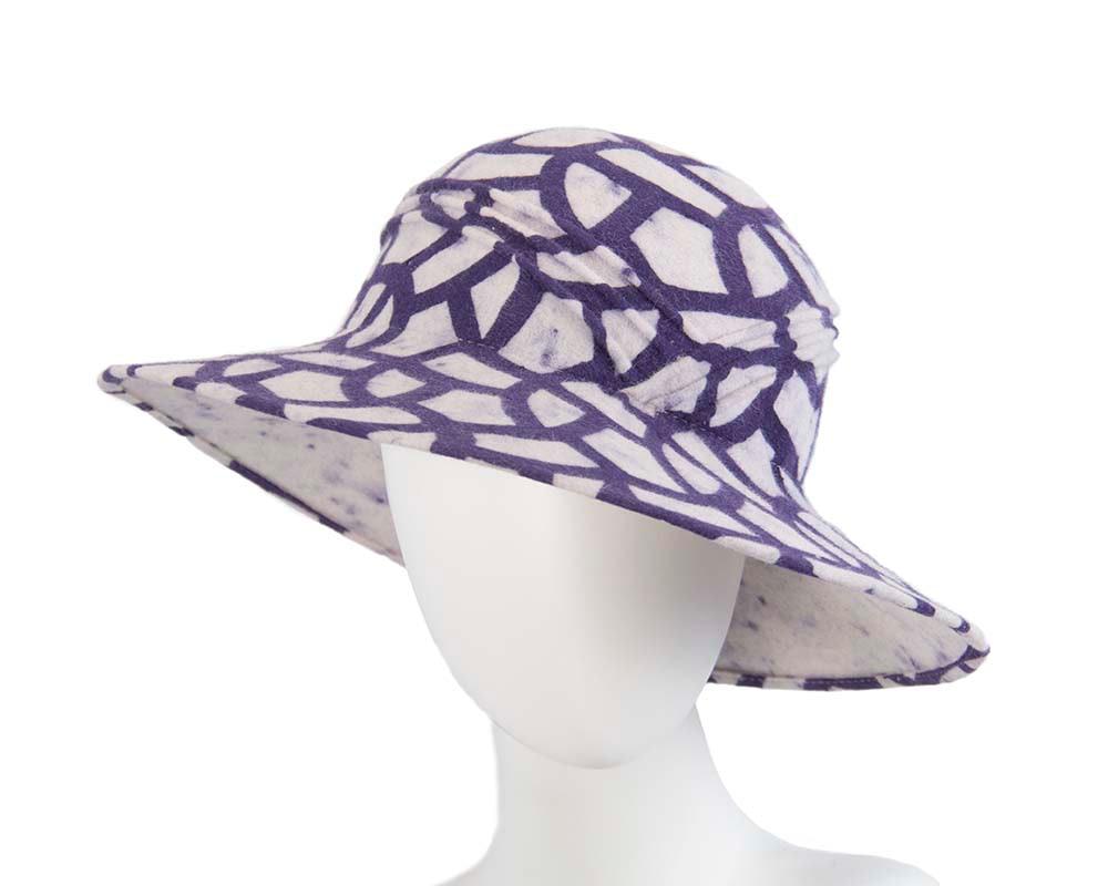 Exclusive rabbit fur cream hat Made in Europe