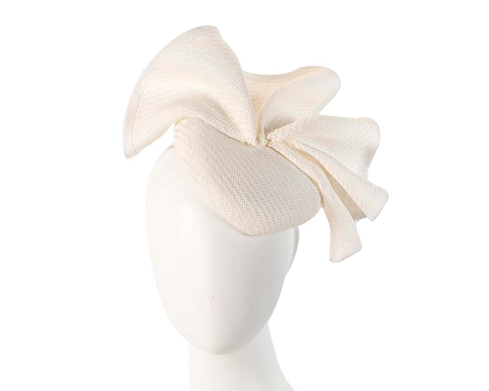Made in Australia white pillbox racing fascinator by Fillies Collection S165W