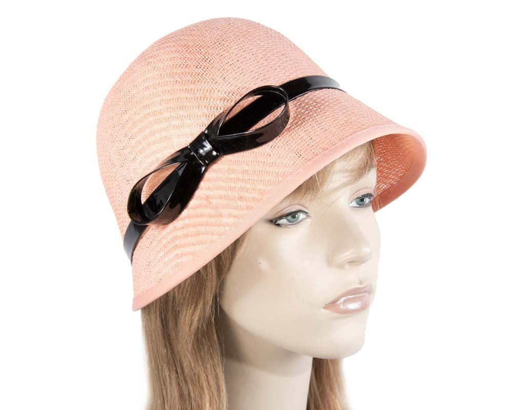 Coral ladies fashion cloche hat for races Max Alexander online in Aus MA555CR