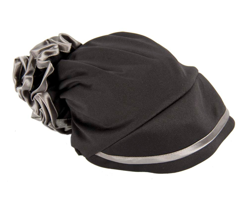 Black & silver turban muslim headscarf
