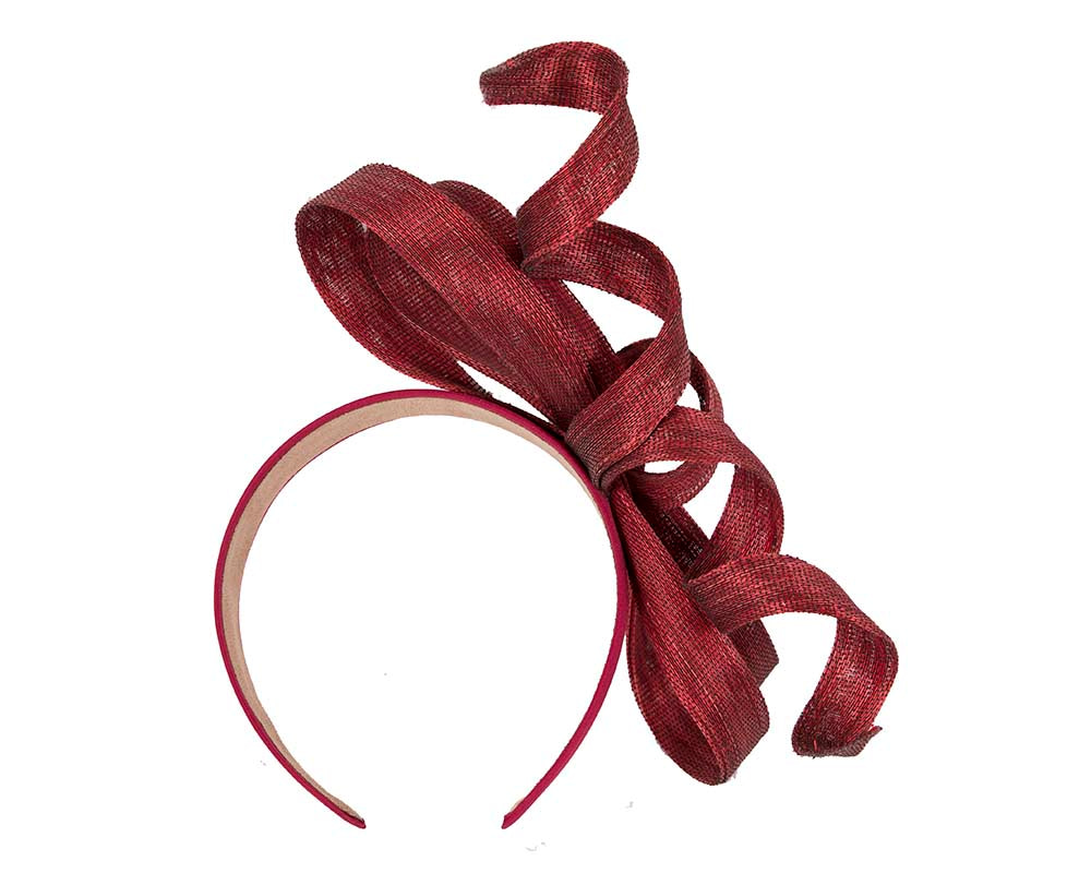 Exclusive burgundy wine fascinator by Fillies Collection