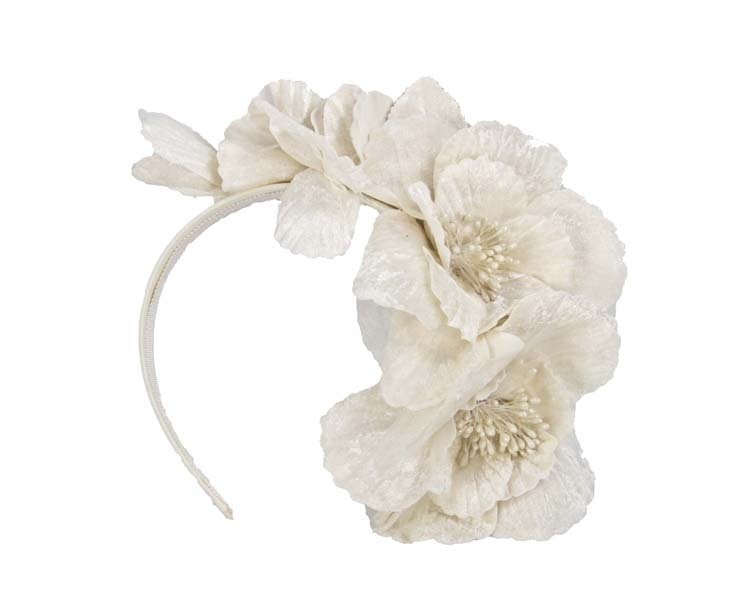 Cream Flower Fascinator Headband