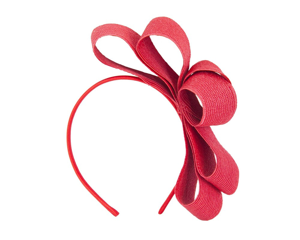 Red bow fascinator by Max Alexander