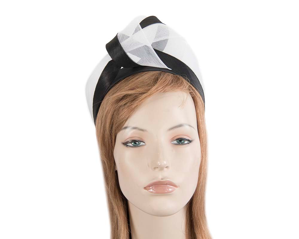 Black & white fashion headband turban by Fillies Collection