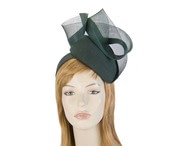Olive green pillbox winter racing fascinator