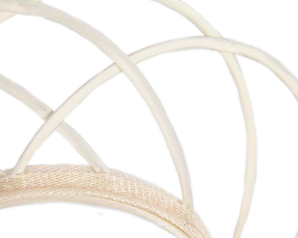 Designers ivory crown fascinator by Max Alexander