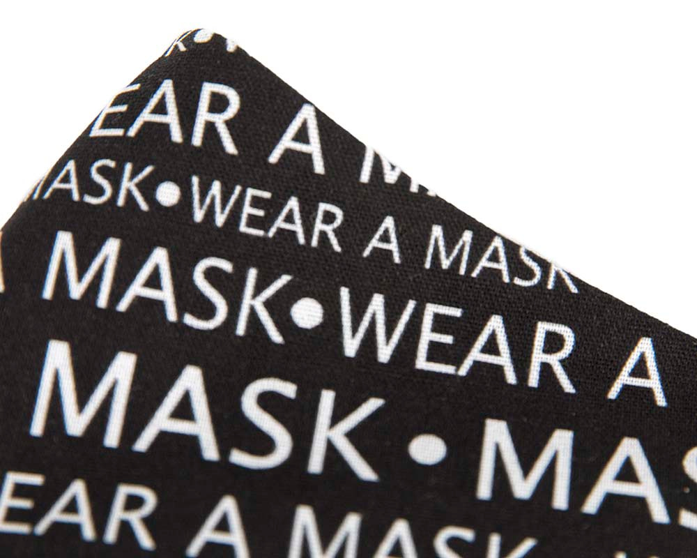 Comfortable re-usable cotton face mask with print