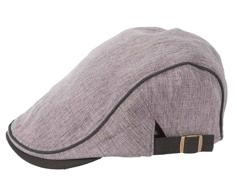 Soft grey flat cap by Max Alexander