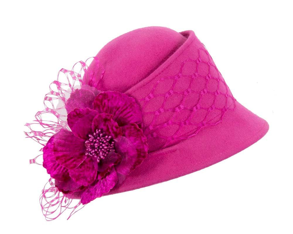 Fuchsia ladies winter fashion felt hat buy online in Australia F569F