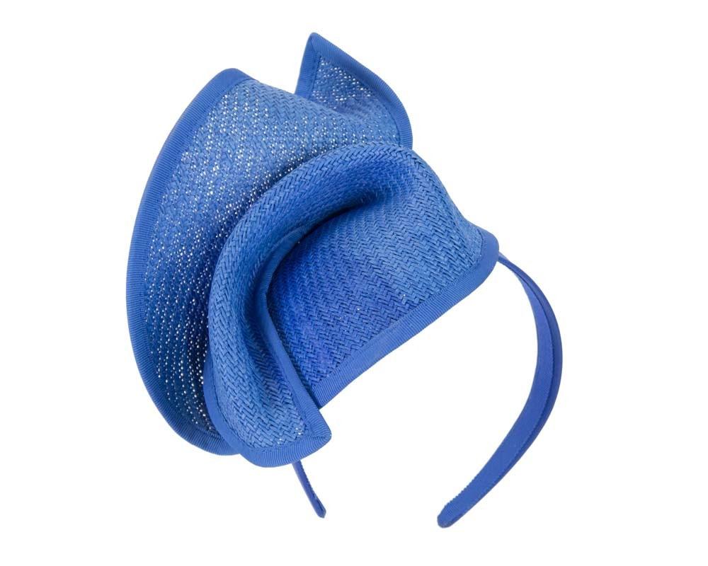 Royal Blue fashion pillbox fascinator hat for races Max Alexander