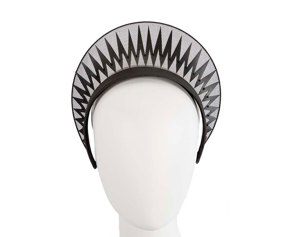 Exclusive black crown fascinator
