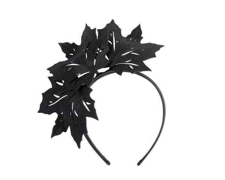 Black laser cut maple leafs on headband
