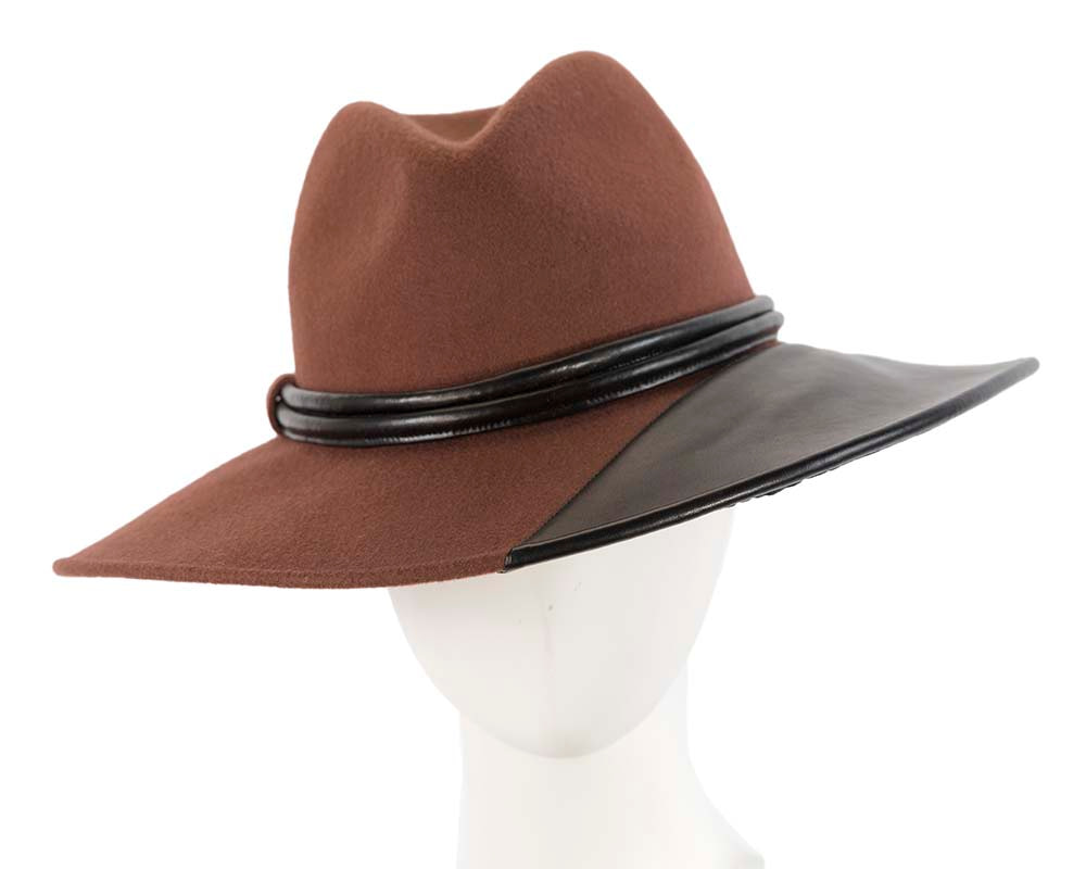 Unique wide brim fashion fedora hat by Cupids Millinery