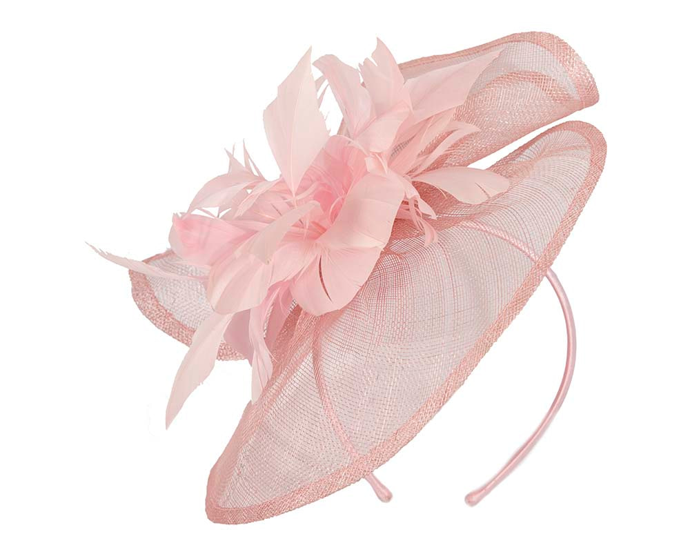 Pink fascinator by Cupids Millinery Melbourne
