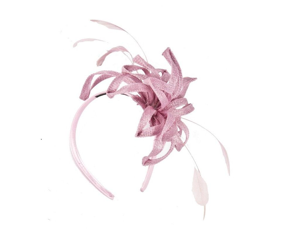Flamboyant pink fascinator