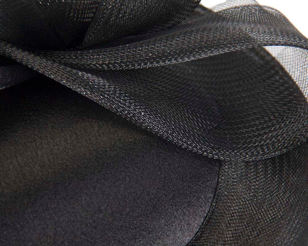 Black Custom Made Cocktail Hat