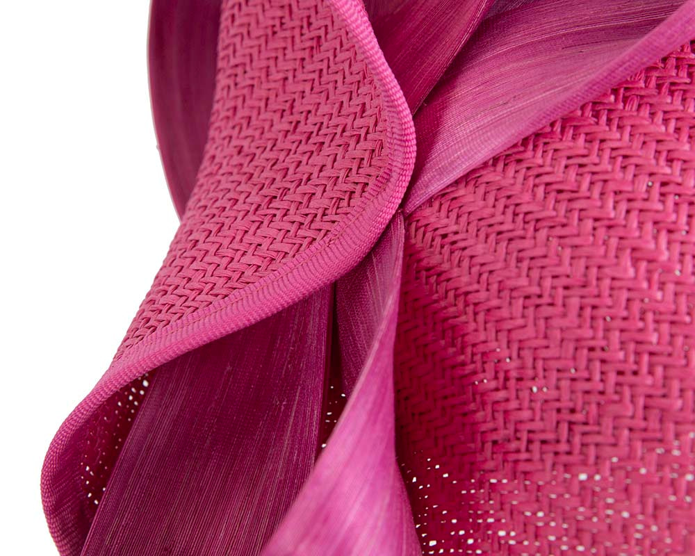 Large fuchsia Fillies Collection racing fascinator with bow