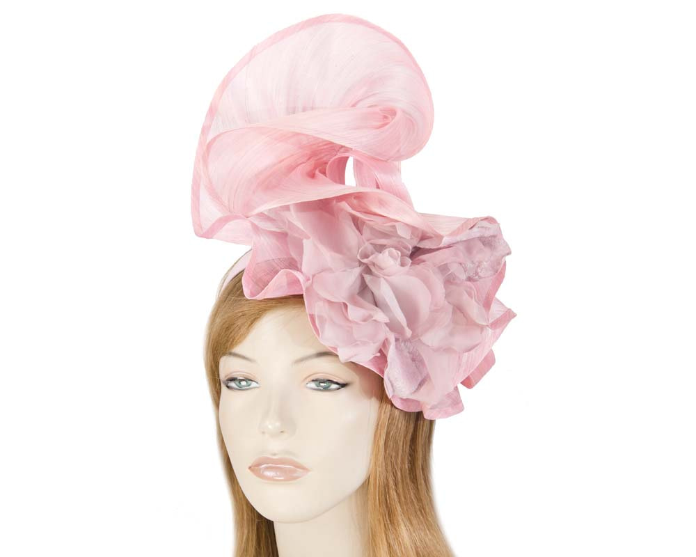 Bespoke large pink fascinator