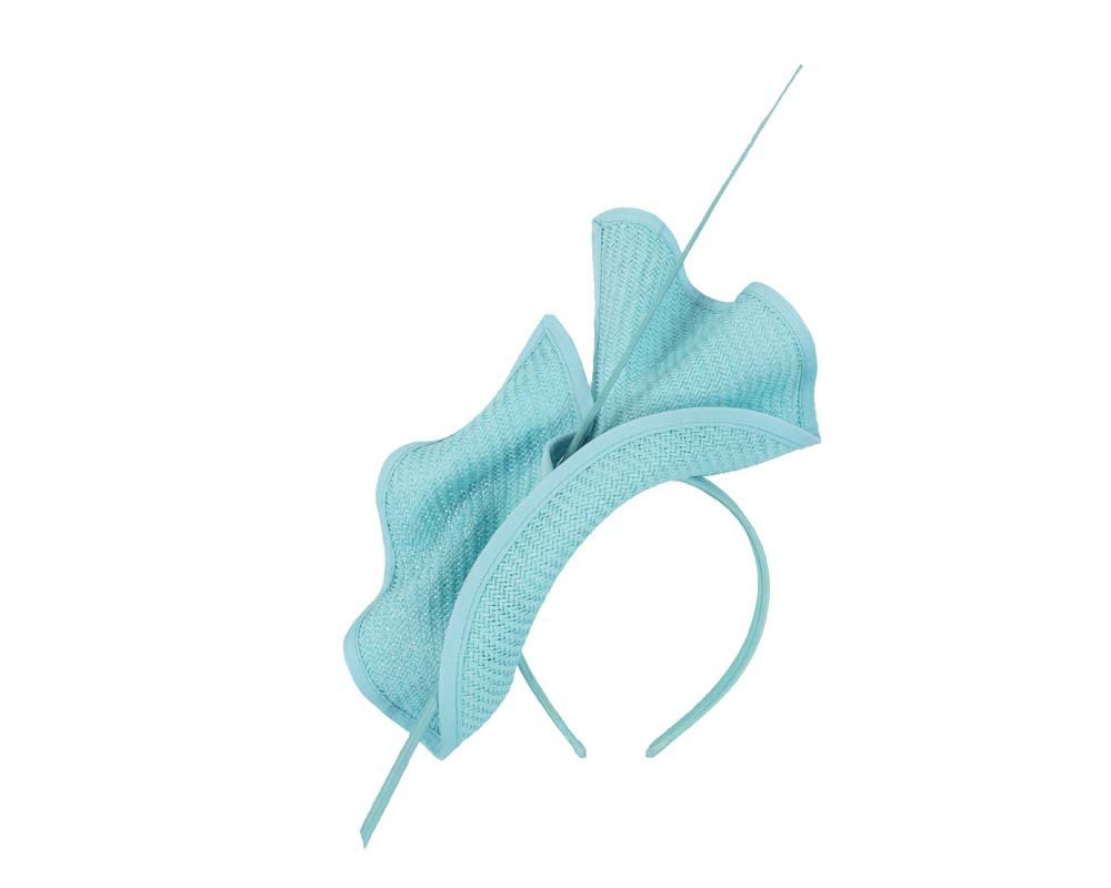 Bright turquoise Max Alexander racing fascinator made in Australia MA686T