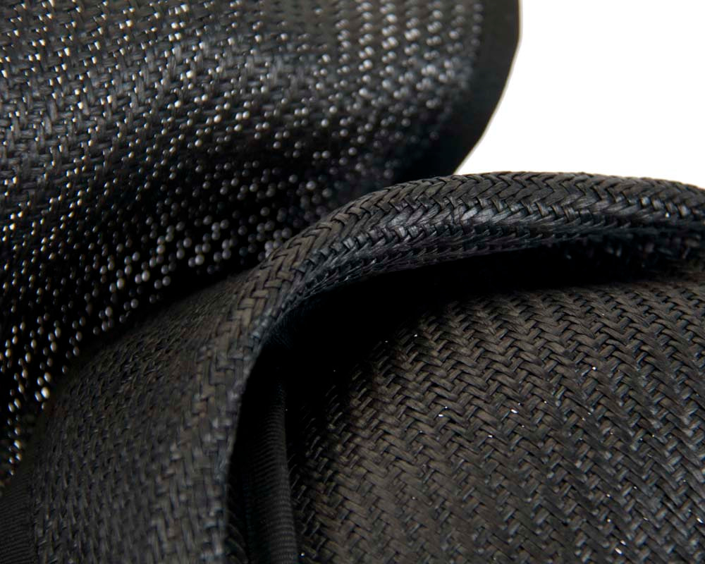 Black fashion pillbox fascinator hat for races Max Alexander MA564B