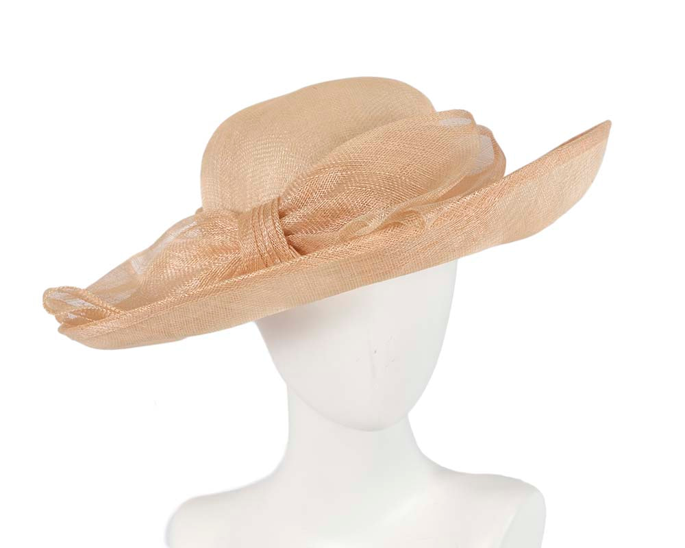 Large nude racing hat by Cupids Millinery Melbourne