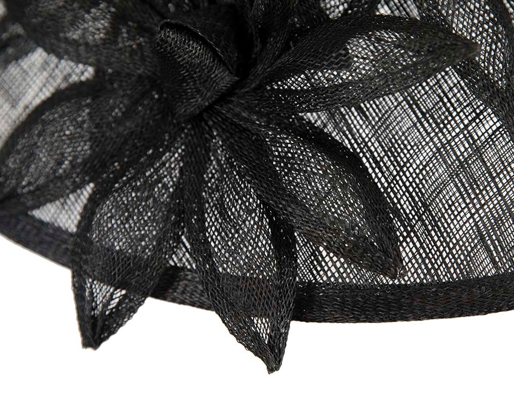 Large black spring racing hat by Max Alexander