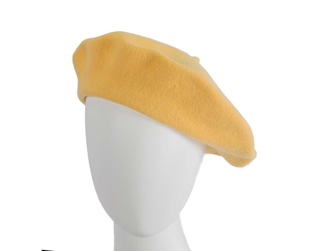 Yellow wool WOOLMARK french beret