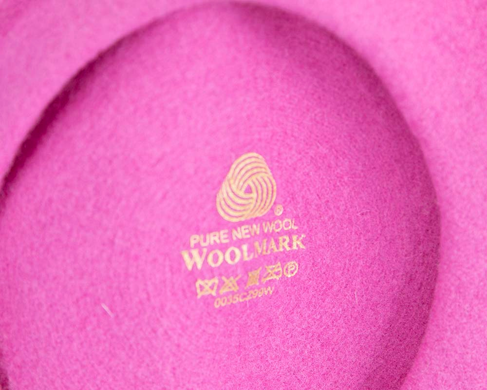 Fuchsia wool WOOLMARK french beret
