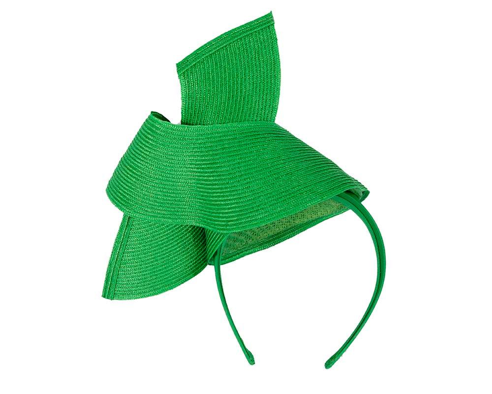 Modern green fascinator by Max Alexander