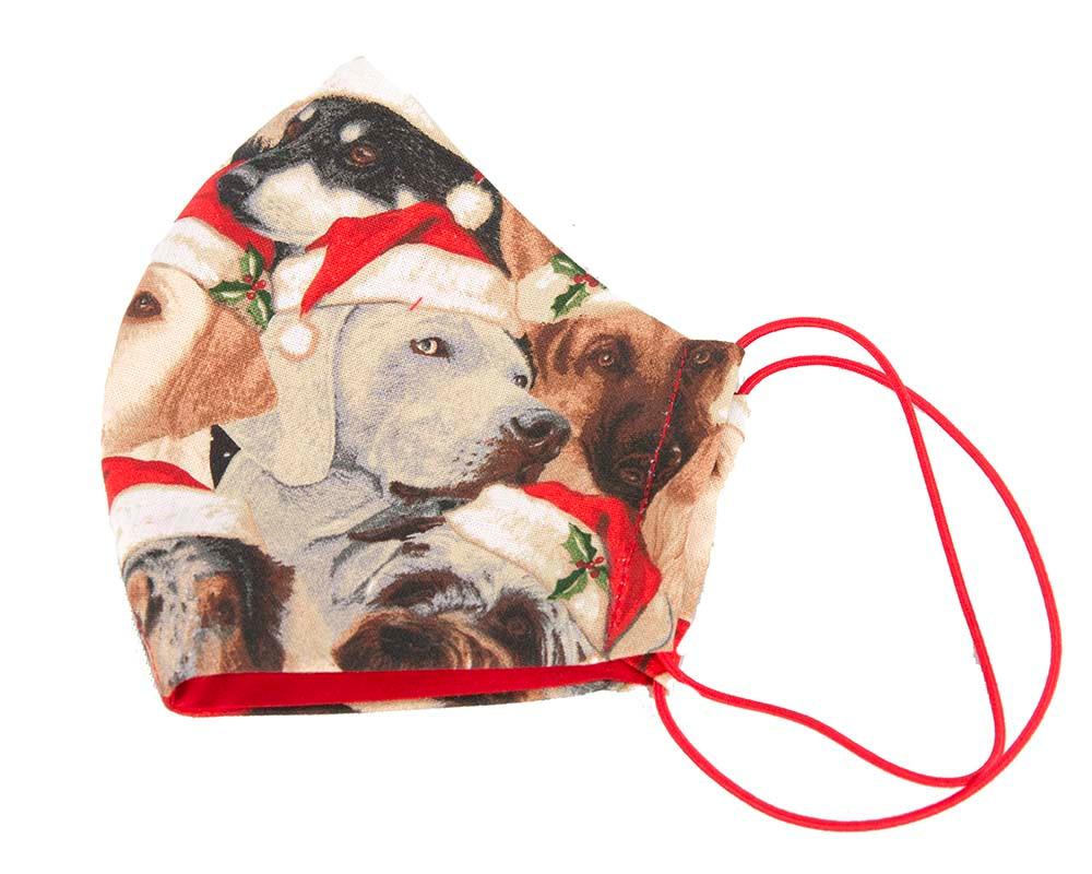 Comfortable Xmas Dogs re-usable cotton face mask