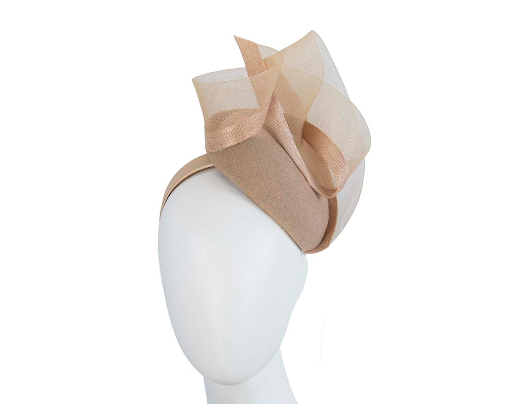 Gold pillbox winter racing fascinator