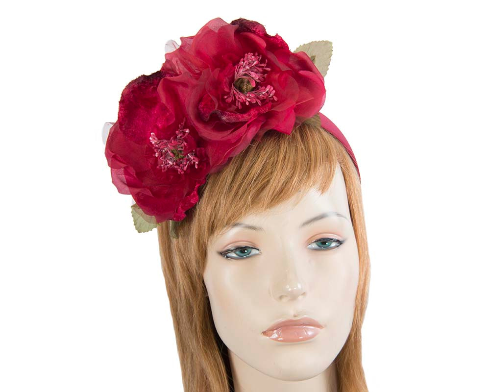 Wine silk flower crown