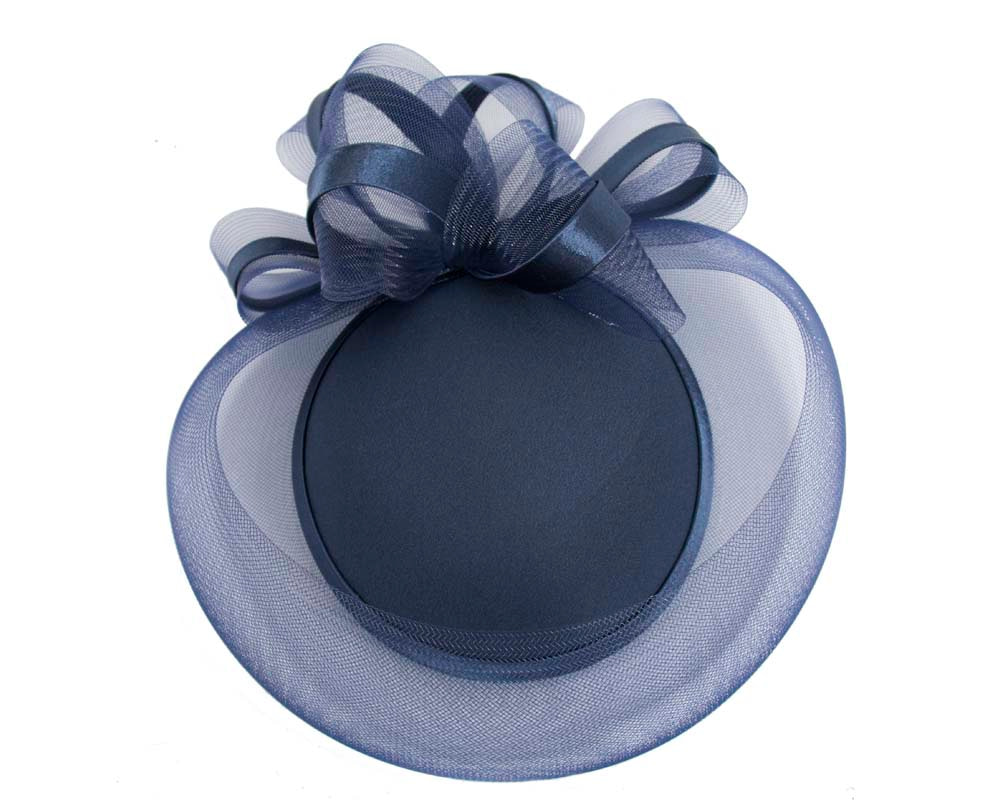 Navy custom made cocktail pillbox hat