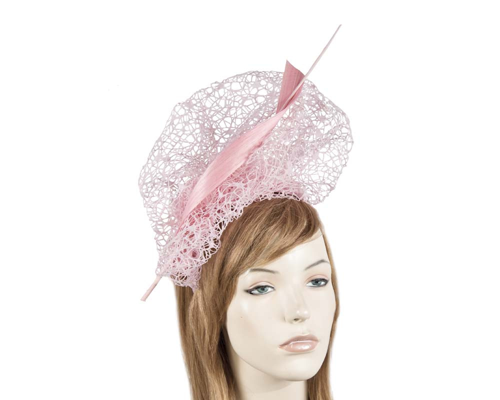 Bespoke pink lace fascinator