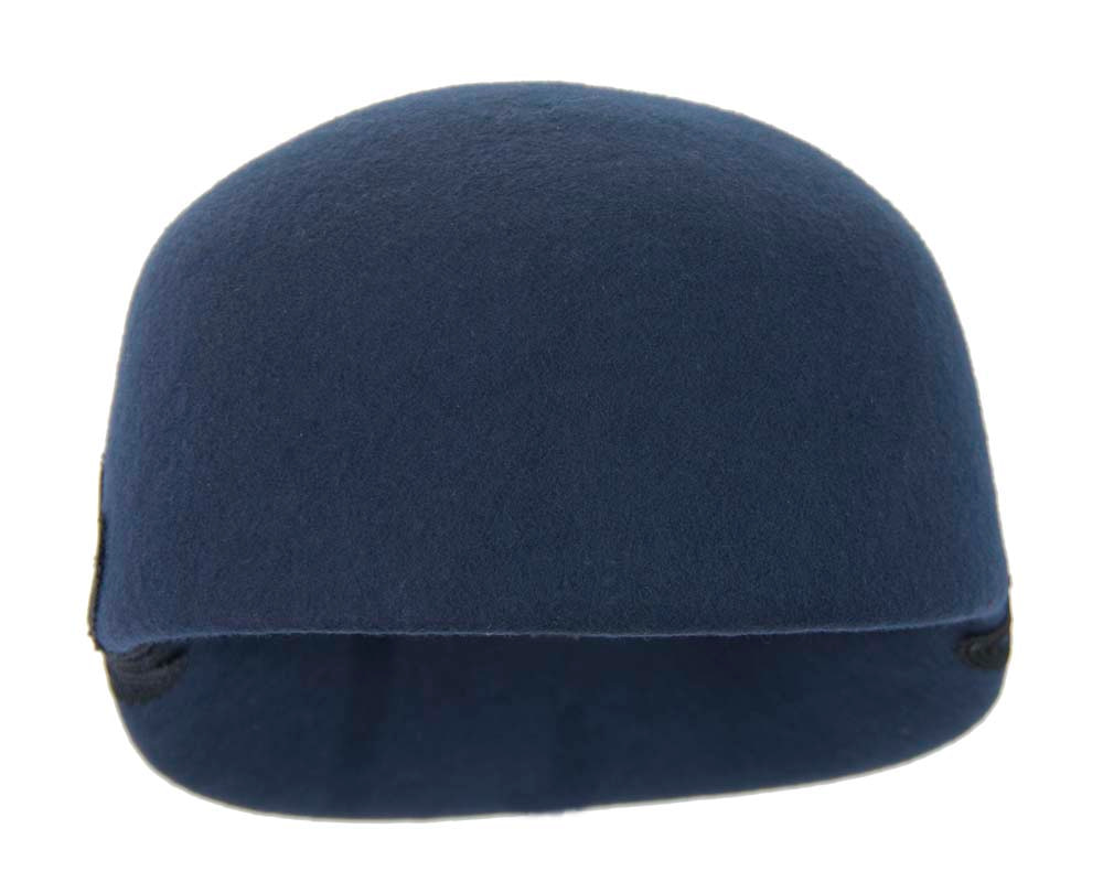 Large navy felt cap