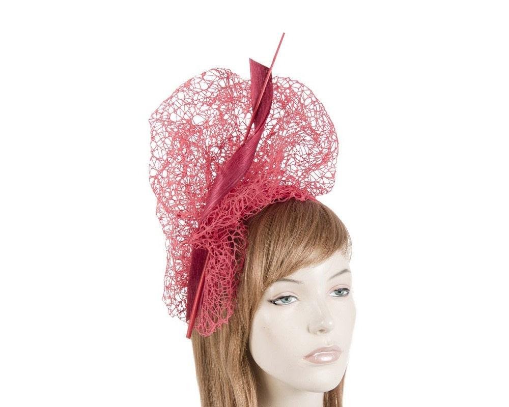 Bespoke red lace fascinator