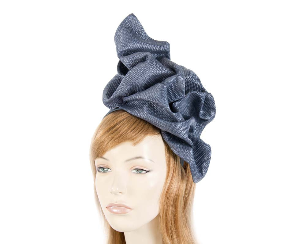 Navy tailored fascinator