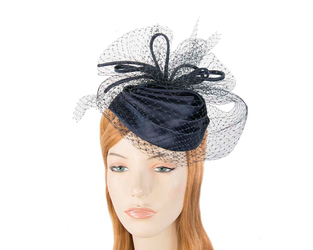 Navy Cocktail Headpiece with veil