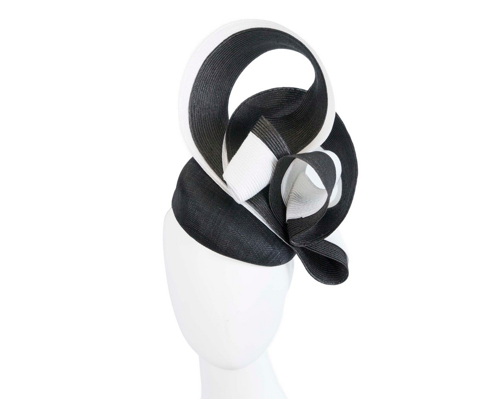 Stunning black & white racing fascinator by Fillies Collection