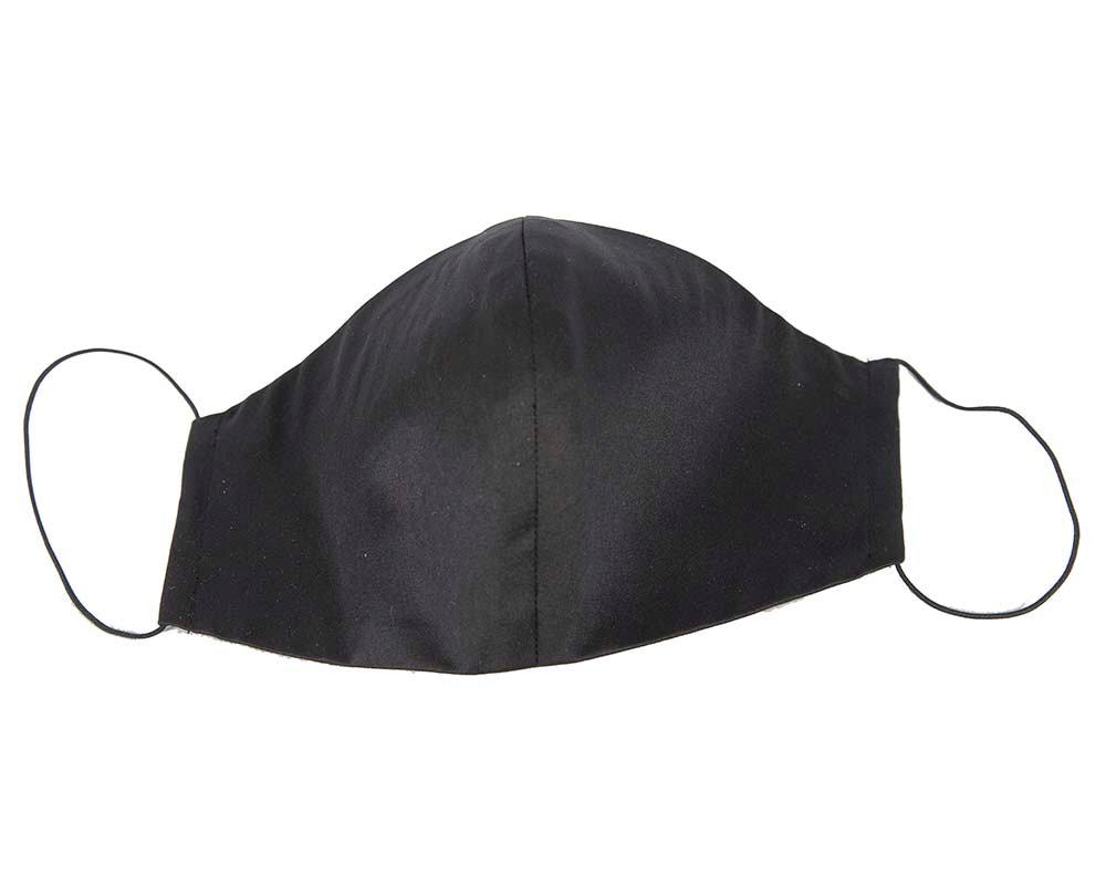 Comfortable re-usable face mask black satin