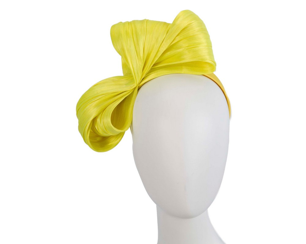 Exclusive yellow silk abaca bow by Fillies Collection