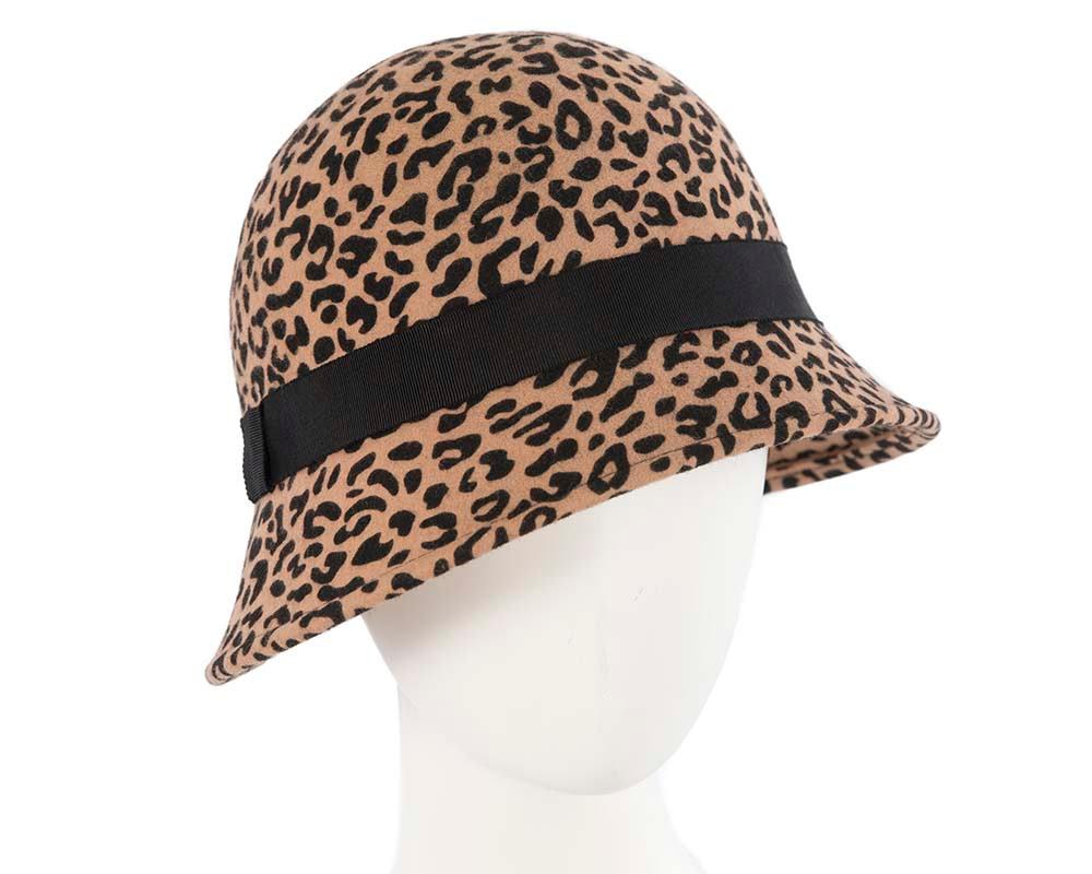 Leopard ladies fashion bucket hat by Cupids Millinery